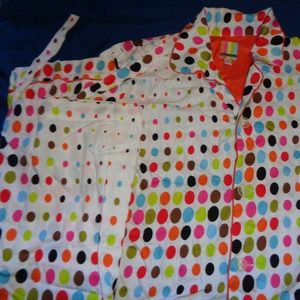 Tepper Jackson Polka Dot Pajama Set Size Large